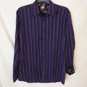 Zagiri Mens Casual Shirt Flip Cuff Long Sleeve